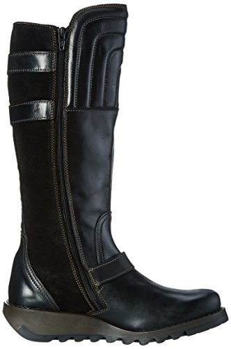 FLY London Sher730fly, Botas Biker para Mujer Negro (Black/black)