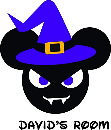 Witch Costume Halloween Scary Outfit Personalized Name Custom Names Mickey Mouse Disneyland Fun Fun Family Happiest Place On Earth Ears Wall Decals Decal Walls Stickers Sticker Rooms Size 20 x 20 inch]()