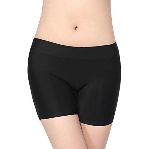 Ayliss Women Butt Lifter Padded Panties Enhancing Body Shaper Bodyshort Boxer Brief,Black M