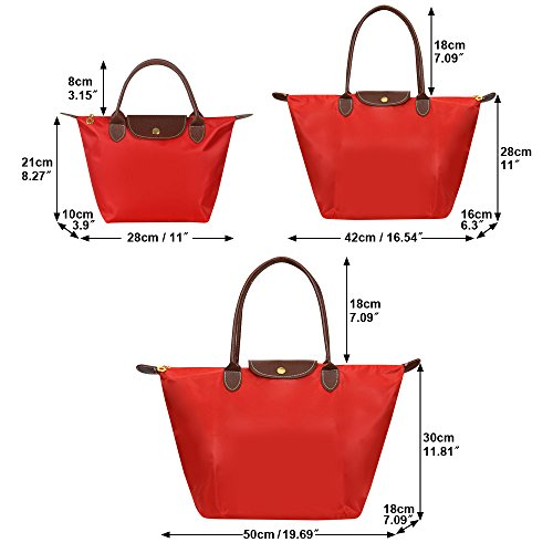 Folding Ladies Wocharm Womens Purse Red Messenger Shoulder Bag Bag Handbags Tote Beach Travel Nylon Shopping Bag Bag Tote Casual wfrzwPBq