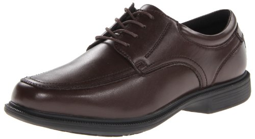 Nunn Bush Men's Bourbon Street Moc Toe Oxford Lace Up with KORE Technology, Brown, 10.5