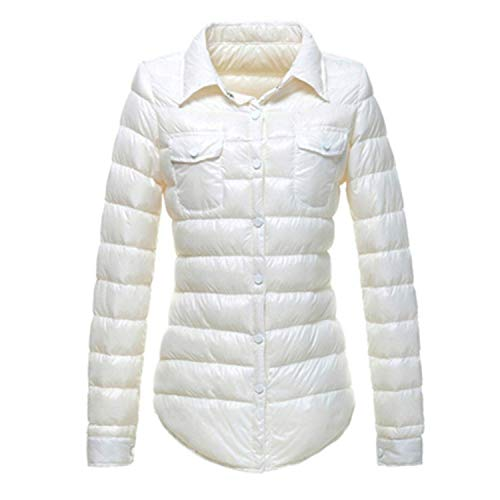- Joyhul Women Keep Warm in Winter Light Thin 90% White Duck Down Jacket/Women's Slim Fit Down Coat,Medium,White