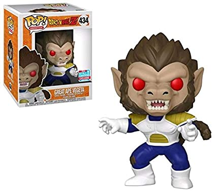 Nycc 2018 Funko Pop Animation Dragonball Z Great Ape Vegeta 6 Inch 434 Shared Exclusive