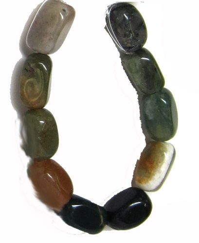 Fancy Jasper Necklace - Bead Collection 40335 Multi Fancy Jasper Semi Precious Small Nuggets Beads, 7-Inch