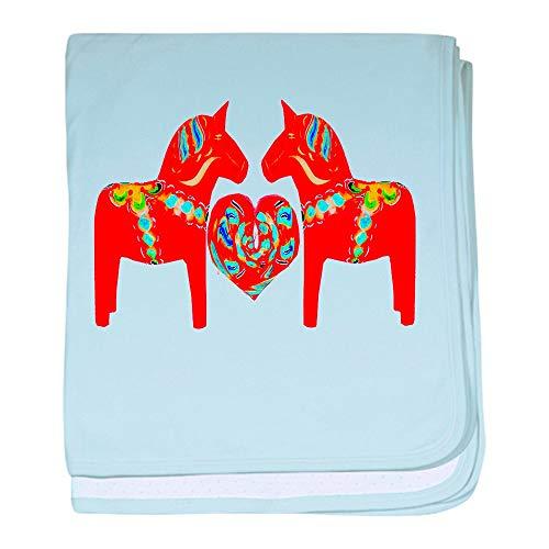 - CafePress Swedish Dala Horses Baby Blanket, Super Soft Newborn Swaddle
