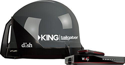 KING VQ4550 Tailgater Bundle - Portable Satellite TV Antenna and DISH Wally HD - Antenna Satellite Rv