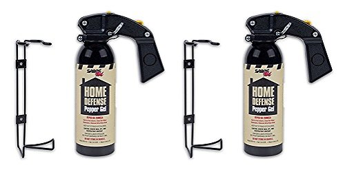 Sabre Red Pepper Gel - Police Strength - Family, Home & Property Defense Gel with Wall Mount Bracket by Sabre