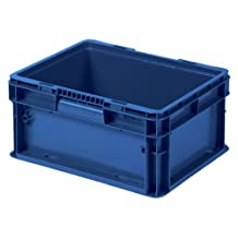 Buckhorn SW151208A209000 Plastic Straight Wall Storage Container Tote, 15-Inch by 12-Inch by 7.5-Inch, Dark Blue