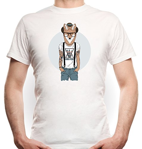 Hipster Fox T-Shirt White Certified Freak