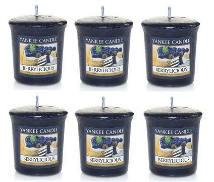 Yankee Candle Lot of 6 Berrylicious Samplers Votive Candles 1.75 Oz. Each.