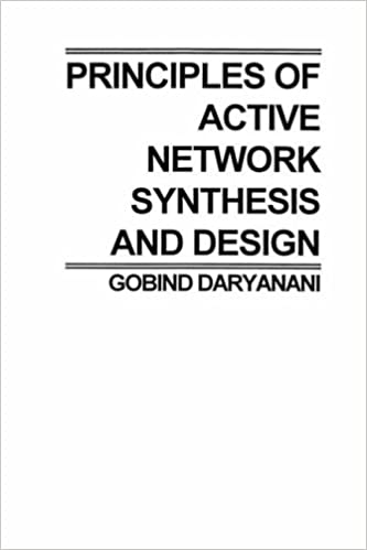 Prin Active Network Synthesis and Design