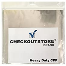 """(100) CheckOutStore® Clear Plastic CPP Sleeves for 12"""" Vinyl 33 RPM Records (Outer Sleeve)"""