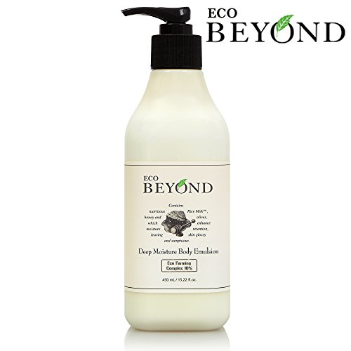 Rice Milk Lotion (Deep Moisture Body Lotion Moisturizer [ECO BEYOND] 24 Hour Long Lasting Natural Moisturizing Hydrating Emulsion Including Rice Milk, Blueberries, Cranberries Extract [No Paraben] 450ml/15.21oz)