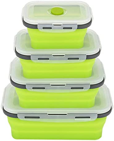 Collapsible Silicone Reusable Container Cleaning