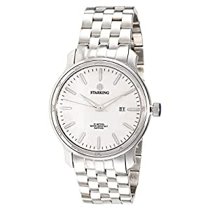 Starking Men's White Dial Stainless Steel Band Watch - BM0843SS11