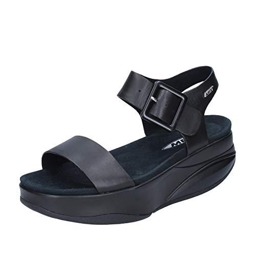 Pulsera Mbt Negro Sandalia Mujer 03c Con black Para Manni Calf ROanpFOB