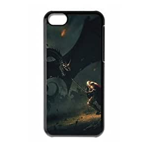iPhone 5c Cell Phone Case Black wings dragons boss lord of the rings illust art SUX_883135