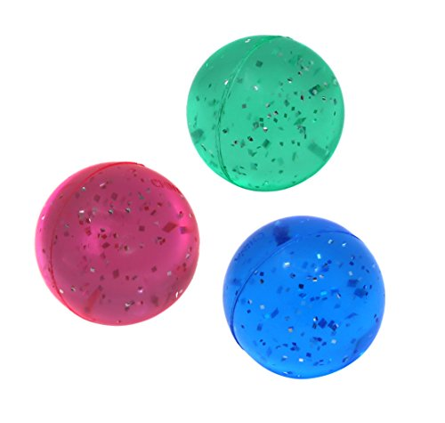 Ball Party Favors - SNInc. Glitter Bouncing Balls - Party Favor Pack of 30 Super Balls