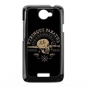 Sword and skull HTC One X Cell Phone Case Black Gufpq