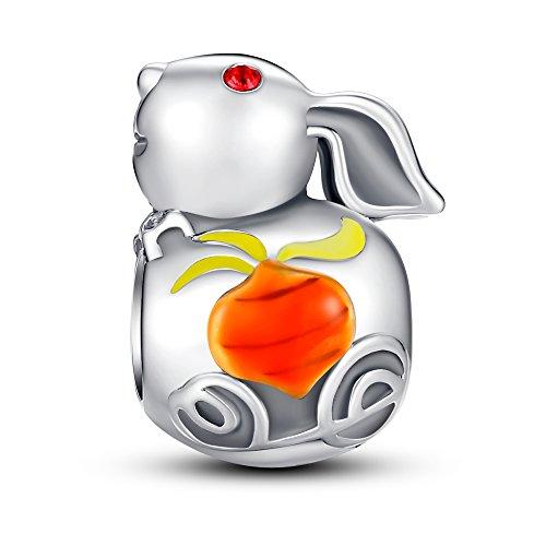 Glamulet Art - Chinese Zodiac Rabbit Charm -- 925 Sterling Silver (Charm Zodiac Rabbit)