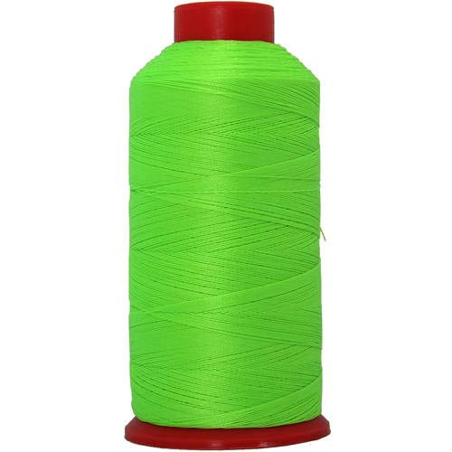 Threadart Neon Colors Heavy Duty Bonded Nylon Thread - 1650 Yards (1500m) - #69 T70 Size 210D/3 Coated - for Upholstery, Leather, Vinyl, and Other Heavy Fabric - 6 Colors Available - Neon Green