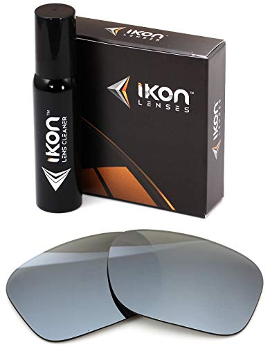 Polarized Ikon Iridium Replacement Lenses for Oakley Holbrook Sunglasses - Silver Chrome Mirror