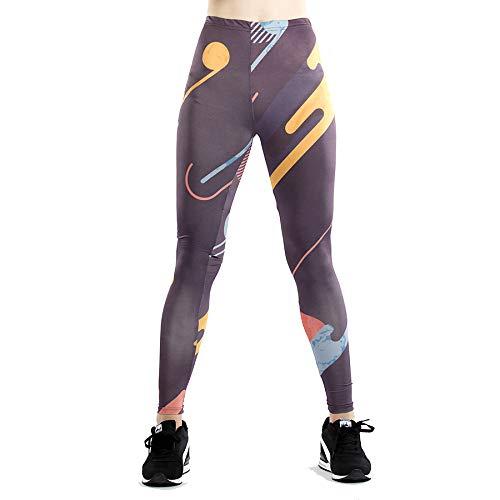 GYXYYF Slim Leggings Digital Running Yoga Sporthose Slim Leggings