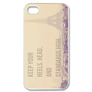 Fashion Marilyn Monroe Quote Personalized iPhone 4 4S Hard Case Cover -CCINO