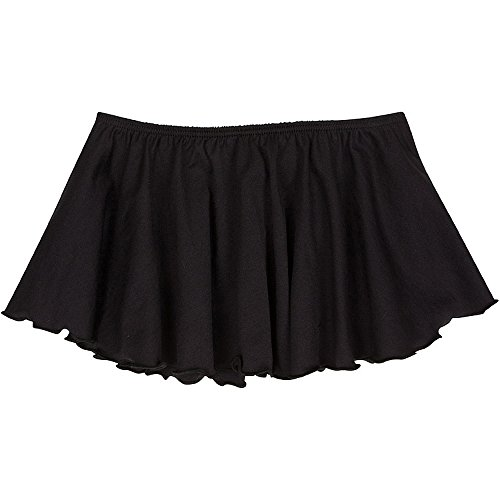 Toddler and Girls Flutter Ballet Dance Skirt Black XS (2-3T) by The Leotard Boutique