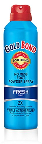 Gold Bond Foot Powder Spray Fresh Scent 7 Ounce Can (207ml) (2 Pack) -