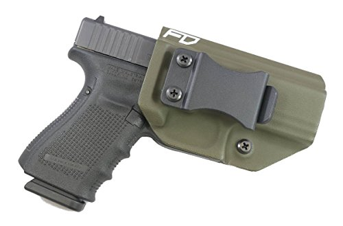 Fierce Defender IWB (Inside Waistband) Kydex Holster Glock 19 23 32' Winter Warrior Series -MADE IN USA- GEN 5 Compatible! (OD Green)