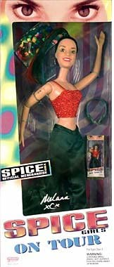 Amazon Com Galoob Spice Girls On Tour Melanie Chisholm Sporty Spice Doll Toys Games