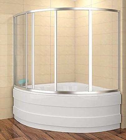 Mampara 120 x 120 cm ducha bañera 120 x 120 x 135 cm (LxBxH) Mampara de bañera de 4 piezas: Amazon.es: Bricolaje y herramientas