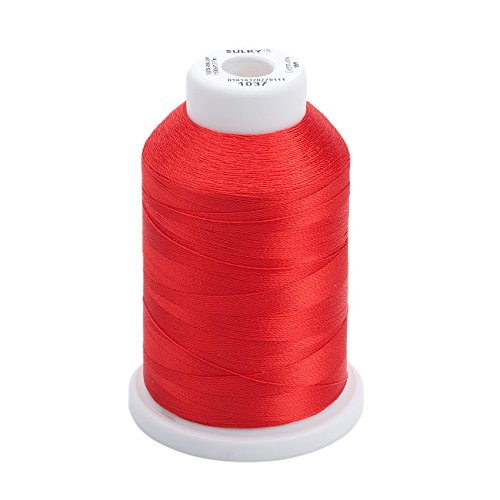 2 Ply Quilting Thread - Sulky Of America 268d 40wt 2-Ply Rayon Thread, 1500 yd, Light Red