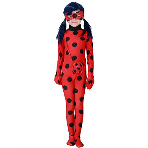 Gift Ideas! Teresamoon Kids Miraculous Ladybug Costume Combination Mask Cosplay Xmas Carnival Party Set
