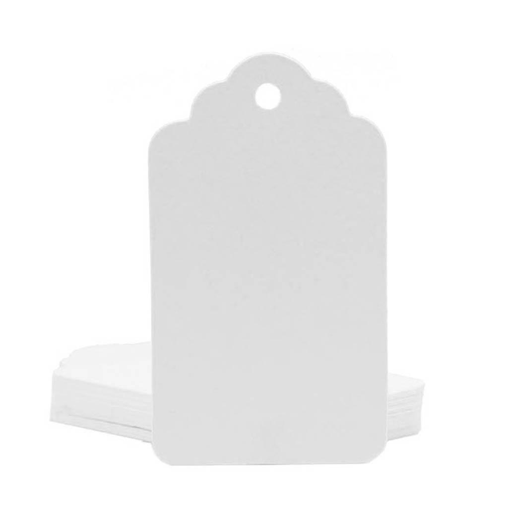 100 Stück Shabby Chic 40mmx70mm Geschenk Anhänger Papieranhänger ...