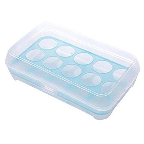 Euone® Single Layer Refrigerator Food 15 Eggs Airtight Storage container plastic Box (B)