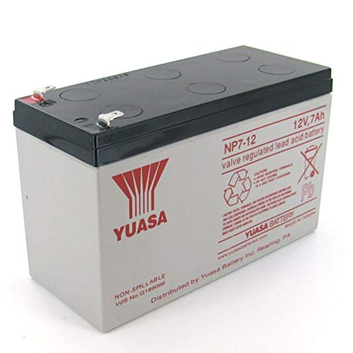 Yuasa Lead Acid Batteries - Yuasa NP7-12 12V/7Ah Sealed Lead Acid Battery with F1 Terminal
