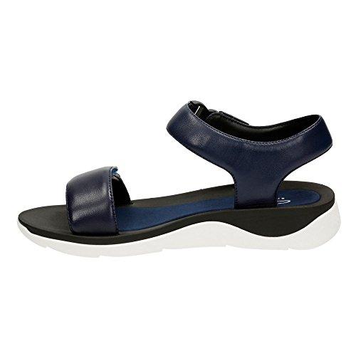 Clarks Caval Dixie cuarta parte de la mujer sandalias de correa Azul marino (navy leather)