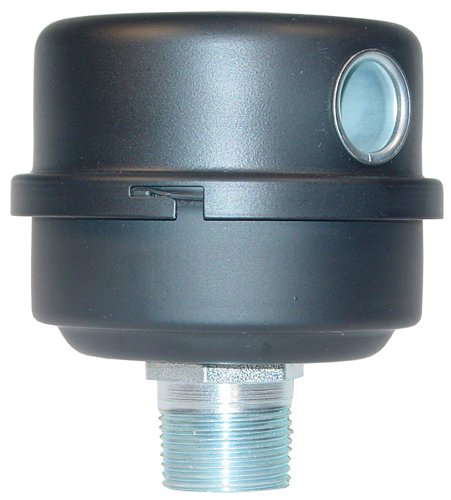 Solberg FS-10-075 Inlet Compressor Air  Filter Silencer, 3/4'' MPT Outlet, 4-1/2'' HT, 4-1/8'' Diameter, 25 SCFM, Made in the USA by Solberg