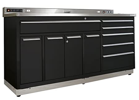 Viper Tool Storage V7206Ugbl 72 Inch Ultimate Garage 18G Steel Workstation And Stainless Worktop