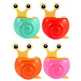 Forma Suction Toothbrush Holder DealMux Plastic Snail Shape Suction Cup Toothbrush Holder 4pcs Assorted Color