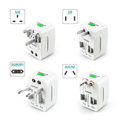 Deeirao Universal All in One Worldwide International Travel Adapter Wall Charger AC Power Plug Adapter for USA EU UK AU 150 Countries Full Copper Conductive Material -