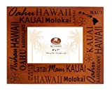 Hawaiian Islands Wood Picture Frame 5'' X 7''