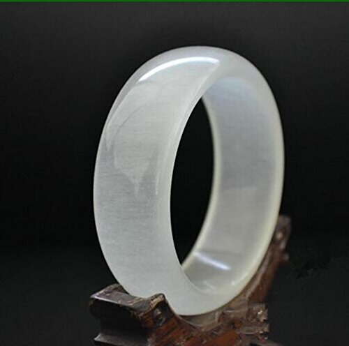 Natural Jasper Jade White Nephrite Jade Ice Cave Jade Bangle Chinese Ink Style Jade Bracelet (JW-0028-58 mm) Chinese Jade Beads Bangle