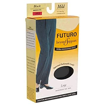 278fa6a16c6 Image Unavailable. Image not available for. Color  FUTURO Energizing Ultra  Sheer Knee Highs for Women Mild ...