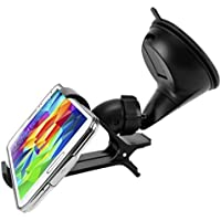 Easy One Hand Mount Car Holder Windshield Dash Clipper Cradle Window Rotating Dock Suction for Huawei Honor 7X