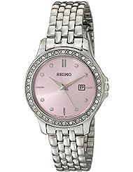 Seiko Womens SXDF89 Analog Display Japanese Quartz Silver Watch