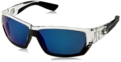 Costa Del Mar Tuna Alley Sunglasses, Crystal, Blue Mirror 580 Plastic - Sunglasses Alley Tuna Costa