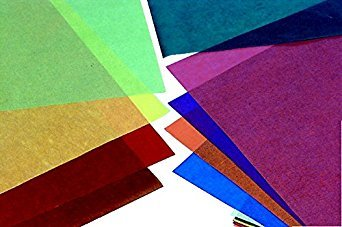 Folia Large Transparent Paper, 19-3/4 X 27-1/2 in, 100 Sheets, Assorted Color, Pack of 100 by Folia